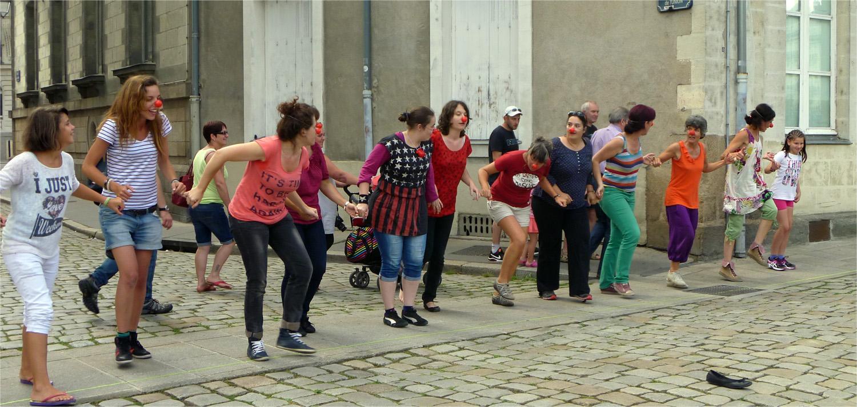 Stage d'été de Clown 5 jours, Nantes, Août 2014.